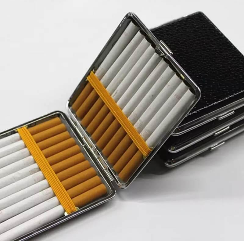 black-leather-cigarette-storage-box